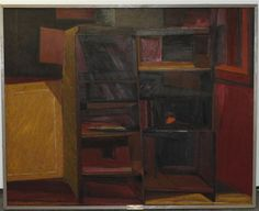 Alfred J. Pounders, (20th century), Red Interior, 1961 Bookcases