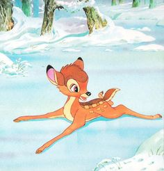 Disney's Bambi! My brother laughed at me when I cried when Bambi's mother got shot, so I moved to another row in the theater. Some man offered me some candy, and I got scared ; I ended up just sitting there frozen with fear, so not really seeing the rest of the movie. I don't know exactly how old we were, but I guess we were old enough to be dropped off at the theater, and then picked up after it was over. I went back to the movies after that, but I never left my group again!