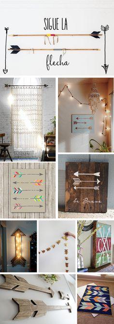 Nos inspiramos con la decoración con flechas. #Arrows