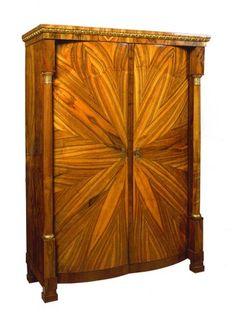 Biedermeier Armoire, Vienna, circa 1830 Art Deco Furniture, Furniture Styles, Antique Furniture, Cool Furniture, Furniture Design, Empire Furniture, Hardwood Furniture, Furniture Storage, Armoire For Sale