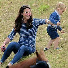Kate and George at Beaufort Polo Club, June 14, 2015