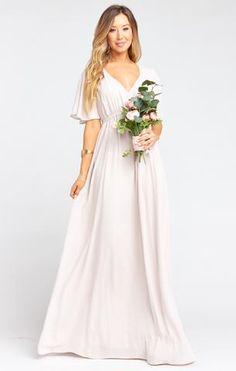Neutral Bridesmaid Dresses, Empire Waist Bridesmaid Dresses, Bohemian Bridesmaid, Mumu Wedding, How Many Bridesmaids, Maxi Dress Wedding, Wedding Attire, Maxi Dresses, Cotton Dresses