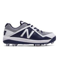 Junior 4040v4 Rubber Molded Kids Boys Baseball Shoes - Navy/White (J4040TN4)