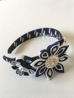 Kanzashigirl headbandkanzashi by MagaroCreations on Etsy