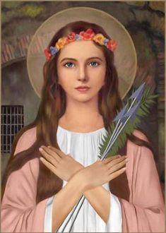 """God's Servant - Paulina Jaricot said: """"I heard evil spirits screaming during exorcisms: Saint Philomena - Virgin and Martyr is our mortal enemy."""" Saint Philomena - Patron of the living Rosary, pray. Saint Philomena, Medusa Art, Bible Timeline, Pray For Us, Catholic Saints, Canvas Pictures, Positive Thoughts, Madonna, My Best Friend"""