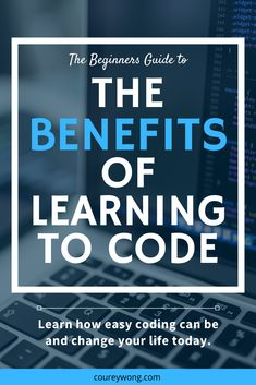 Have you ever wondered what are the benefits of learning code? Learn the top 5 benefits of why you should learn to code. Computer Coding, Computer Science, Coding For Beginners, Writing Code, Coding Software, Coding Languages, Create Your Own Business, Learn Programming, Learning To Write