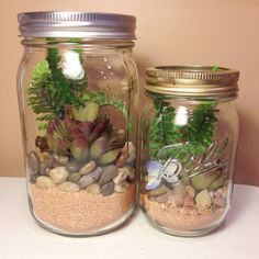 DIY Mason Jar Terrarium - Winters in Jersey are pretty grey everyday. I was itching for some plant life. Hence, why I created these super easy Mason Jar Terrari…