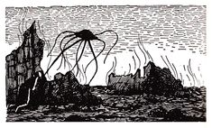 Edward Gorey, Born on This Day in 1925, Illustrates H. G. Wells's The War of the Worlds