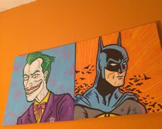 Batman and The Joker : Hero's and Villains Series by TheFoolNelsons    Come check them out at Oddmall: Emporium of the Weird May 5th & 6th, 2018 at the John S. Knight Center in Akron, Ohio! Akron Ohio, Knight, Weird, Goodies, Joker, Batman, Check, Fictional Characters, Etsy