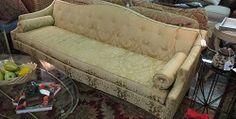 Hickory Chair Yellow Camelback Sofa  $600.00