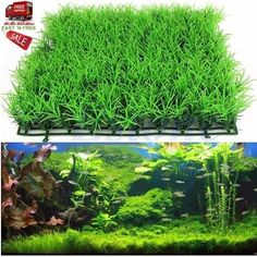 Aquarium Grass Plant Lawn Green Fish Tank Landscape Artificial Aquatic Ornament  #AquariumDcorOrnaments