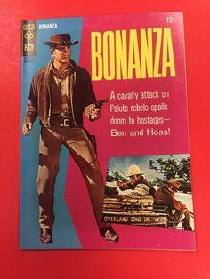 GOLD KEY COMICS  - BONANZA # 22   - TV  WESTERN - NICE  GRADE - PHOTO COVER