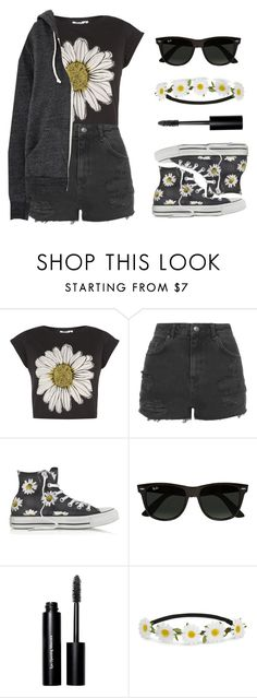 """""""Daisy"""" by felytery ❤ liked on Polyvore featuring Topshop, Converse, Ray-Ban, Bobbi Brown Cosmetics and Impulse"""
