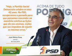 José Matos Rosa, Secretário-Geral do Partido Social Democrata num artigo de opinião no jornal I 06 de maio de 2016 #42anospsd #PSD #acimadetudoportugal
