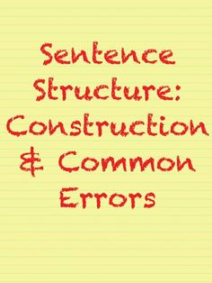 English sentence correction online