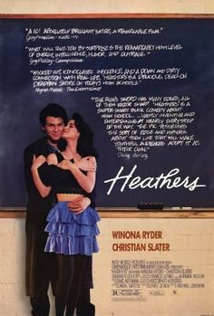 """Directed by Michael Lehmann.  With Winona Ryder, Christian Slater, Shannen Doherty, Lisanne Falk. A girl who half-heartedly tries to be part of the """"in crowd"""" of her school meets a rebel who teaches her a more devious way to play social politics; killing the popular kids."""