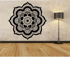 Mandala Wall Decal VERSION 2 Flower namaste Vinyl Sticker Art Decor Bedroom Design Mural flower Buddha namaste yoga living room