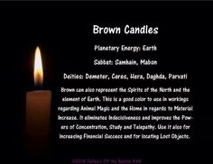 Candles - Brown Magick Spells, Candle Spells, Candle Magic, Luck Spells, Wicca Witchcraft, Brown Candles, Easy Spells, Wiccan Spell Book, Witchcraft For Beginners
