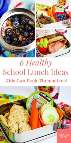 Healthy School Lunch Ideas for Kids Best Healthy Family Recipes, NaturalDeets l Clean Eating Recipes, Best Healthy Family Recipes Gesunde . Quick Healthy Lunch, Healthy School Lunches, Healthy Eating For Kids, Easy Healthy Recipes, Real Food Recipes, Healthy Snacks, Easy Meals, School Snacks, School Meal