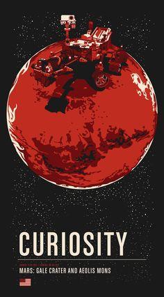Historic Robotic Spacecraft Poster Series - http://designyoutrust.com/2014/11/historic-robotic-spacecraft-poster-series/