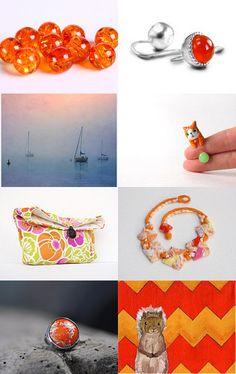 Pink/Orange ***** by Hana Kukol on Etsy--Pinned with TreasuryPin.com