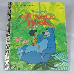 Vintage children's Little Golden Book The Jungle book