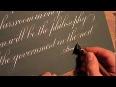 Pointed Pen calligraphy Christmas Greeting - A Bit of Ink - 2011 - YouTube