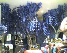 daisy chain: tissue paper vines