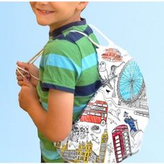 Colouring in London backpack