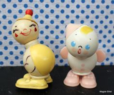 Vintage Baby Rattles with Faces