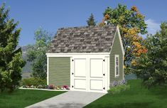 Deluxe 10x12 Starter Garden Shed Plans, DOWNLOAD