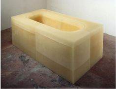 RACHEL WHITEREAD  UNTITLED (YELLOW BATH)  1996  RUBBER AND RESIN