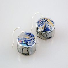 Crush Earrings Blue now featured on Fab.