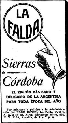 Hotel EDEN, La Falda, Córdoba, década del 20.