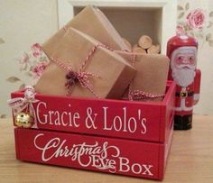 If you are upping stick this Christmas, consider the benefits of a personalised Christmas Eve Box/Crate. Easy to handle, reusable and protects those delicate presents.