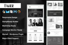 Buzz - Responsive Email Template by pennyblack on @creativemarket