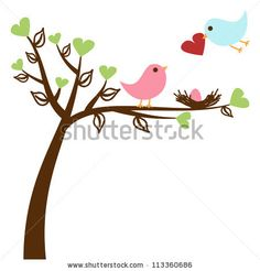 cute Love bird template...going to use for canvas & scrapbook paper idea
