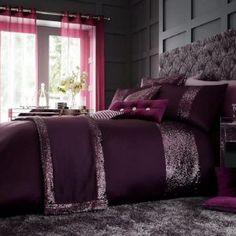 GLAMOROUS aubergine Duvet Cover Christmas Bedding, 3d Christmas, Gold Bedding, Bedding Sets, Beds For Sale, Discount Bedding, Bed Duvet Covers, Bed Sets, Bed Linen