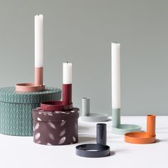 Set a cosy atmosphere in your home with candlelight. Candleholder, available in six colours, price per item DKK 14,40 / EUR 1,98 / ISK 380 / NOK 19,90 / GBP 1,96 / SEK 19,80