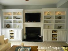 3 Creative Storage Solutions for the Family Room - Home Stories A to Z BASKETS IN OPEN SHELVES COMBINED WITH CLOSED SHELVING