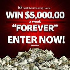 win 1000000 plus 5000 every week for the rest of your life click now before this amazing offer ends httpluxurystyleiconscomwin a million - PIPicStats Instant Win Sweepstakes, Online Sweepstakes, Promotion Card, Win For Life, Forever Life, Money Machine, Publisher Clearing House, Winning Numbers