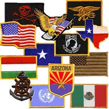 Need a patch for your jacket or hat? We have almost all states and countries.