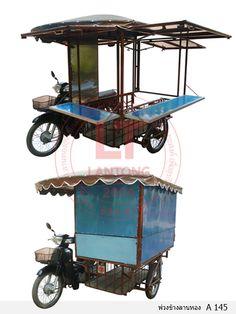 Food Cart Design, Food Truck Design, Sidecar, Electric Cargo Bike, Bike Food, Kiosk Design, Coffee Truck, Food Stall, Cafe Shop