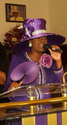 Purple Louise D.Patterson Couture by Joyce Richardson