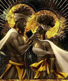 Black love always Sexy Black Art, Black Girl Art, Black Art Painting, Black Artwork, Black Couple Art, Black King And Queen, King Queen, Art Et Design, Afrique Art