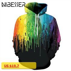 NIBESSER Winter Autumn Women 3D Printed Hoodies Sweatshirts Men Hip Hop Casual Sweatshirt Tracksuit Tops Hooded Pullover TopsZ30