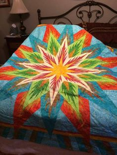Feathered Star, Quiltworx.com, Made by DeVeda Powell, Taught by CI Andrea Schnur