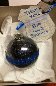 police christmas ornament more