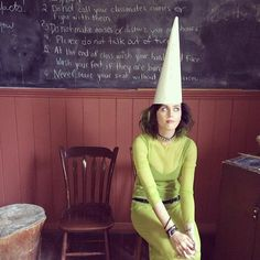 """Katy Perry's vibrant life on Instagram...starting with this LOL pic of her in a dunce cap. She wrote: """"Took my time machine to a 19th century village and still got in trouble."""""""