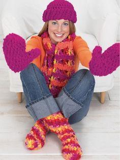 Toque and Mittens | Yarn | Free Knitting Patterns | Crochet Patterns | Yarnspirations